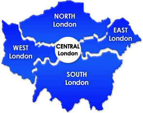 find london properties on map